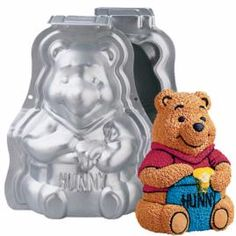 Stand-Up Winnie the Pooh Cake Pan Set - don't know how I feel about carving into ol Pooh Bear though...