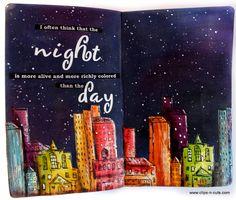 Art Journal | Night skyline