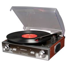 Turntable with a CD player and AM/FM radio.Product: TurntableConstruction Material: Metal and wood    Colo...