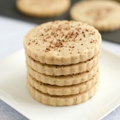 Brown Sugar and Cinnamon Shortbread Cookies- the perfect fall treat!