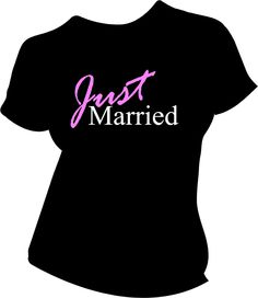 For breakfast the next day! lol Just Married Bride shirt. $16.00, via Etsy.