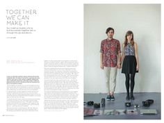 Ben and Elise in Frankie Magazine