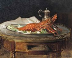 LOBSTER ON A SILVER SALVER Jacques Emile Blanche