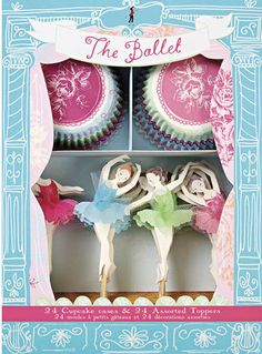 Ballet Ballerina Dancers Cupcake Kit Themed Party by SupplyCrate, $25.00