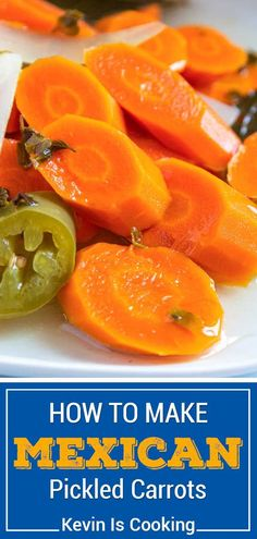 """These Authentic Mexican Pickled Carrots are a great make-it-at-home version that are just like the ones you get at Mexican restaurants and so easy to make! Make plenty of these """"escabeche en vinagre"""" and even add cauliflower if you like, these go fast! This recipe fills 4 pints or use a 1 gallon jar. Mexican Dishes, Mexican Food Recipes, New Recipes, Real Food Recipes, Vegetarian Recipes, Favorite Recipes, Mexican Desserts, Family Recipes, Drink Recipes"""