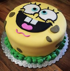 Spongebob cake  Pastel de bob esponja