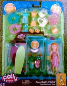 Polly Pocket Fountain Falls One Stop Swim Shop- The HOT rental Shop . $34.97