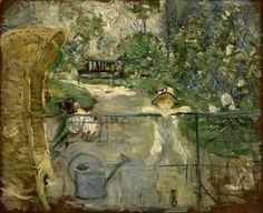 Berthe Morisot (French, 1841-1895), The Basket Chair, 1882. Oil on canvas, 75.5 x 61.3 cm.