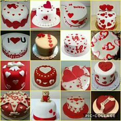 New Baking Valentines Day Frostings Ideas Valentines Cakes And Cupcakes, Valentine Cake, Pretty Cakes, Beautiful Cakes, Fondant Cakes, Cupcake Cakes, Baking Soda And Lemon, Heart Cakes, Cake Decorating Videos