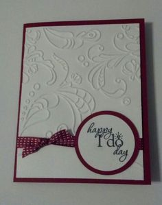 Stampin' Up wedding card with word play set