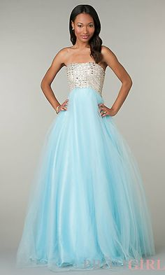 Full Length Strapless Dress by Alyce Love this ball gown for prom! #prom #dress #promdress #fashion #prom2014