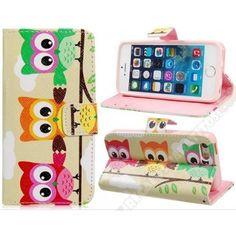 Funda divertida cartera diseño búhos para tu móvil iPhone 5C