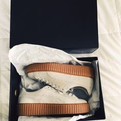 Rihanna Fenty Creepers Rihanna Fenty oatmeal creepers. Size 7.5. Brand new in box. only worn once! Sold out. Puma Shoes Sneakers