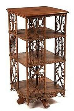 Heywood Wakefield Wicker Oak Bookcase ca this is a great piece of American furniture! Cane Furniture, Rattan Furniture, Funky Furniture, Victorian Furniture, Antique Furniture, Revolving Bookcase, Art Nouveau Furniture, Decoration, Bookcases