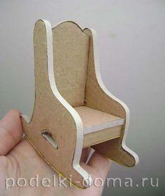Кукольный домик из картона. Делаем своими руками для любимых кукол | podelki-doma.ru Art Reference, Chair, Furniture, Ideas, Home Decor, Hand Crafts, Carton Box, Room Decor, Home Furnishings