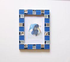 4x6 frame - Mosaic photo frame - Blue frame - Photo frame 4x6 - Picture frame 4x6 - Purple frame - Red frame - Green frame -Mosaic art by MartelMosaic on Etsy