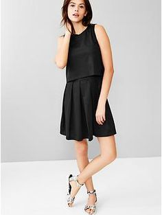 Overlay dress (L) true black knit| Gap{Summer 2015}