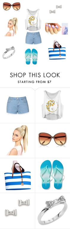 """Beach Day Outfit"" by kitkat8273 on Polyvore featuring Ally Fashion, River Island, Michael Kors, Old Navy, Marc by Marc Jacobs and Kate Spade"