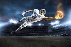 Football Photo Shoot + Retouch by Alex McLeland, via Behance