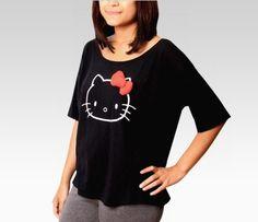 VANS x Hello Kitty Juniors Black Tee: Outline - STYLE #SephoraHelloKitty