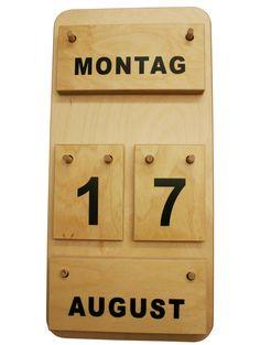 Montessori Dauerkalender aus Holz bei Montessori-Shop.de