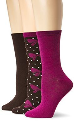 Betsey Johnson Women's Bows and Stripes Crew Socks 3-pack, Chocolate, One Size Betsey Johnson http://www.amazon.com/dp/B00KD6SJJU/ref=cm_sw_r_pi_dp_HQ0Yub0ATG549