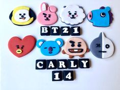 Edible BT21 BTS Cake Topper Set Star Wars Cake Toppers, Fondant Toppers, Edible Cake Toppers, Birthday Cake Toppers, Cupcake Toppers, Birthday Cakes, Cheetah Print Wallpaper, Bts Cake, Bts Birthdays