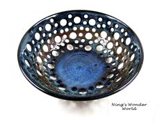 lace pottery bowl