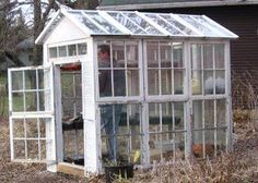 Old window greenhouse – Garden Junk Forum – GardenWeb- no instructions or inside pics