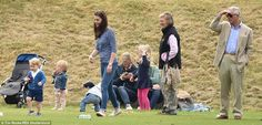 It was certainly a family affair as various members of the royal family set up camp on the sidelines