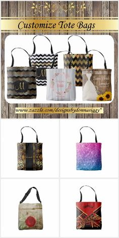 #ToteBags You Can #Customize - All Over Print #shopping #gifts #zazzle #designsbydonnasiggy