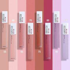 Skin Makeup, Makeup Eyeshadow, Makeup Cosmetics, Makeup Brushes, Glam Makeup, Maybelline Lipstick, Lipsticks, Lip Makeup Tutorial, Makeup Swatches