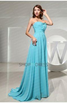 blue dress  chiffon dress  prom dress