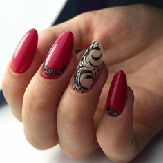 Women's nails are always receiving varnishes of various colors and decorations of all styles. Decorated nails are still fashionable and every season new models come up to raze at all times. Nail Swag, Cute Nails, Pretty Nails, Swirl Nail Art, Almond Nail Art, Magic Nails, Different Nail Designs, Trendy Nail Art, Luxury Nails