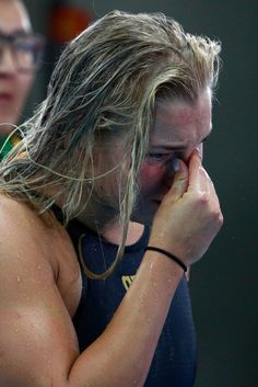 Ruta Meilutyte of Lithuania looks dejected after the Women's 100m Breaststroke Final on Day 3 of the Rio 2016 Olympic Games at the Olympic Aquatics Stadium on August 8, 2016 in Rio de Janeiro, Brazil.
