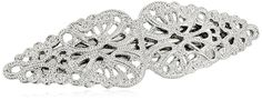 1928 Jewelry Hair Silver Tone Filigree Barrette -- This is an Amazon Affiliate link. You can get more details by clicking on the image.