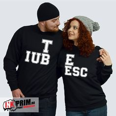Hanorace cuplu - Te iubesc Revolution, Graphic Sweatshirt, My Love, Couples, Sweatshirts, Sports, Sweaters, Ads, Outfits
