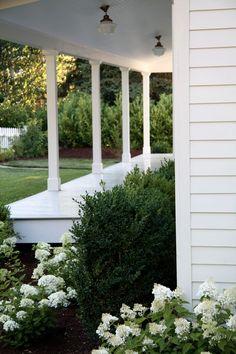 A Country Farmhouse - beautiful tour of their hydrangea gardens