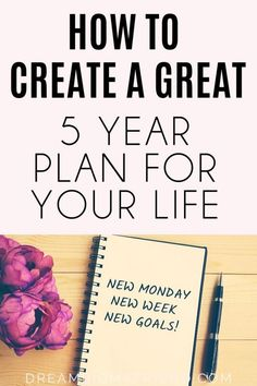 Want to create a five year plan for your life? Here's How To Create A 5 Year Plan For Your Life Five Year Plan Tips And Tricks Business Goals, Business Planning, New Week New Goals, Excited About Life, 5 Year Plan, Goal Planning, Personal Goals, Personal Care, Life Plan