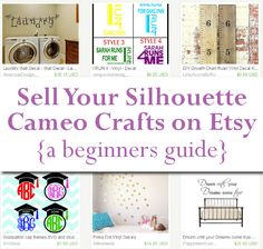 Ready to start selling your Silhouette Cameo or Cricut made crafts on Etsy? Silhouette Cameo 2, Silhouette Cutter, Silhouette Portrait, Silhouette Cameo Projects, Silhouette Machine, Craft Business, Business Ideas, Vinyl Shirts, Vinyl Cutting