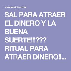 SAL PARA ATRAER EL DINERO Y LA BUENA SUERTE!!!💎💎💎 RITUAL PARA ATRAER DINERO!!! | Music Jinni