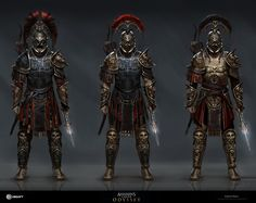 Assassins Creed Art, Assassins Creed Odyssey, Medieval Armor, Medieval Fantasy, Fantasy Armor, Dark Fantasy, Fantasy Fighter, Fantasy Male, Character Concept