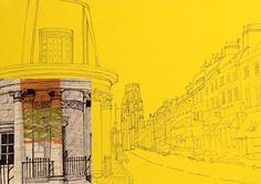 Digital Built In Bristol Park Street Print by Lisa Malyon | The Bristol Shop