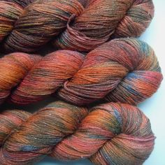 Hand Dyed Sock Yarn fingering weight 4ply superwash by LismiKnits, $22.00