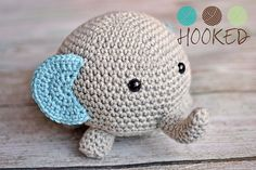 """Elephant - Free Amigurumi Pattern - PDF Format - Click to """"download"""" here: http://www.ravelry.com/patterns/library/not-your-everyday-elephant"""