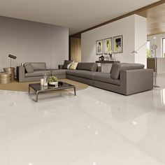 Porcelanato: o que é Open Plan Kitchen Living Room, Living Room Tv, Living Room Carpet, Living Room Chairs, Living Room Interior, Room Tiles, Living Room Flooring, Floor Design, Interior Design