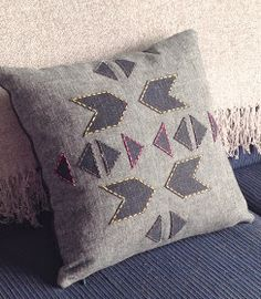 Sarita creative: CUT.SEW.STITCH: Geometric cushion