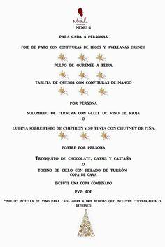 Carta de Navidad en Messala Gastrobar. Sevilla