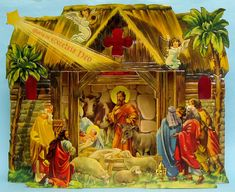 Christmas Ornaments Paper and Spun Glass Cardboard Houses