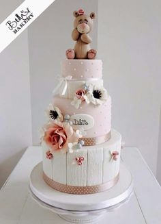 Beautiful baby shower/christening cake